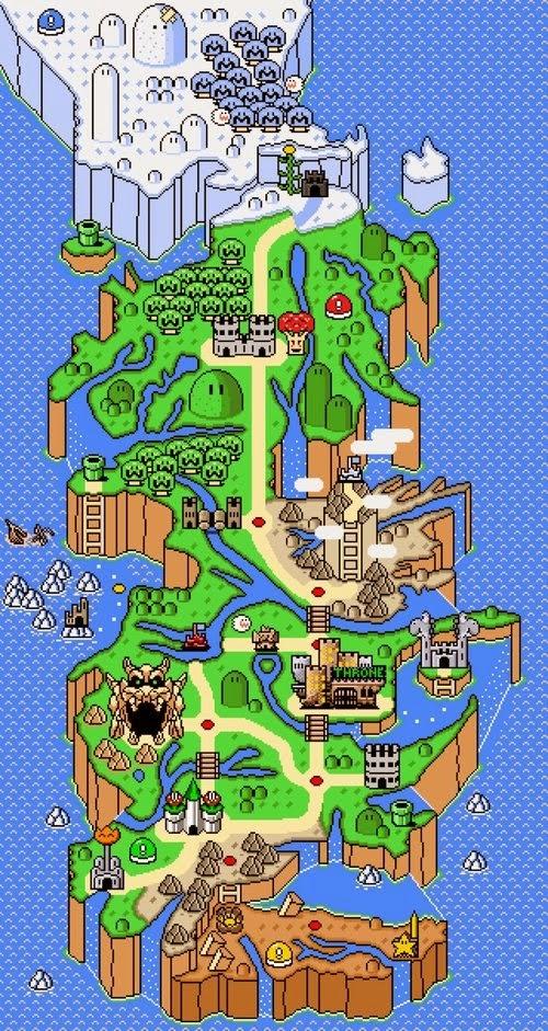 mapa juego de tronos mario bros