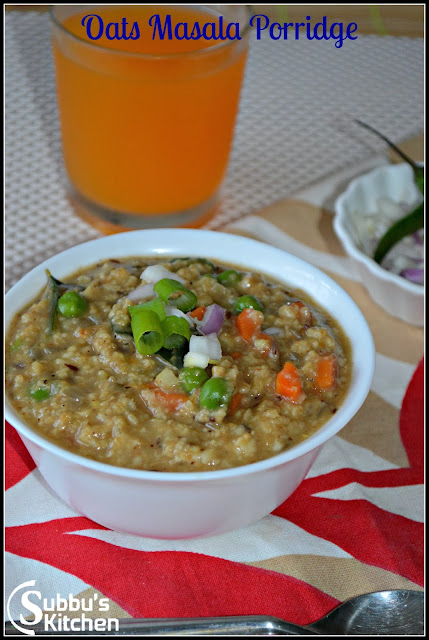 Vegetable Masala Oats Porridge