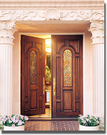 Entry doors with sidelights cheap front doors for Front door entrance designs for houses