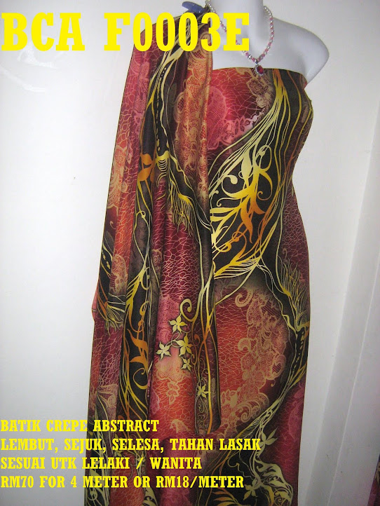 BCA F0003E: BATIK CREPE ABSTRACT,  4 METER