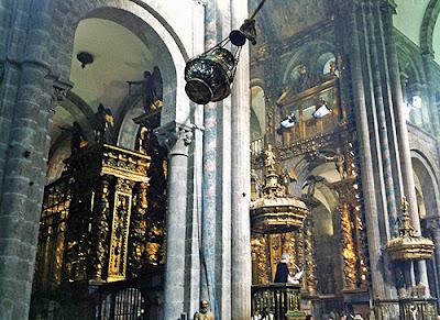 Botafumeiro de la Catedral de Santiago de Compostela.