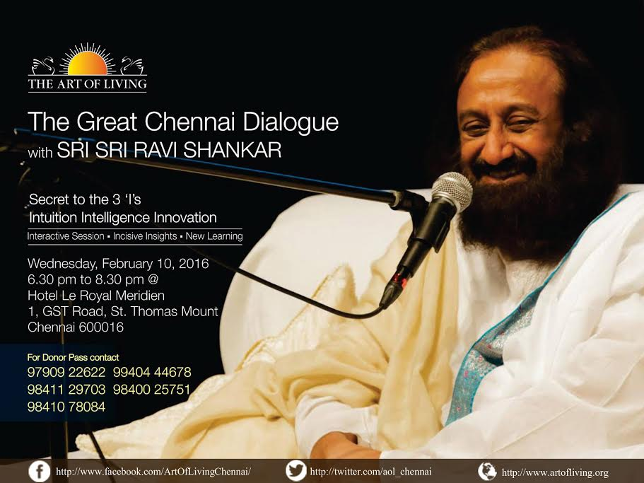 Sri Sri in Chennai 2016