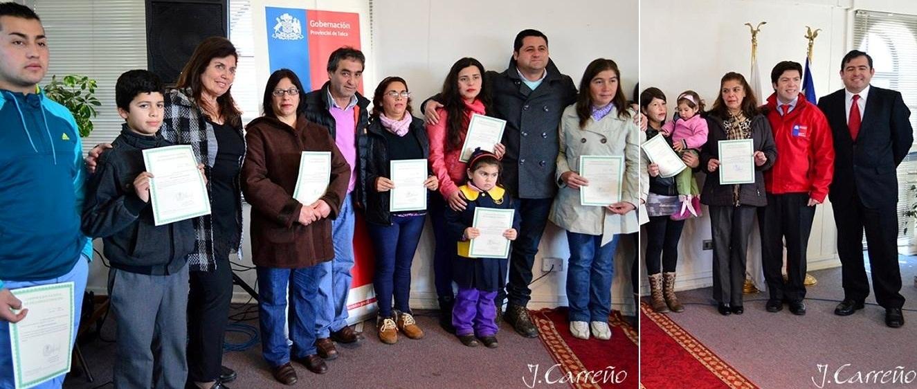 Entrega de certificados de acreditaci n ind gena a for Viveros en talca