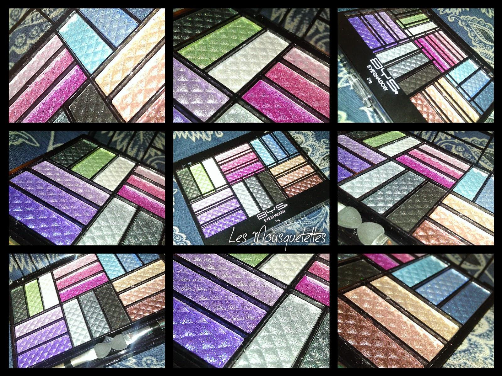 Palette ombre à paupières Diamant Précieux BYS Maquillage - Les Mousquetettes©