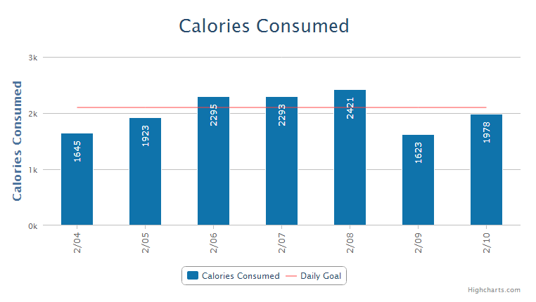 The full overview of my food intake check my myfitnesspal profile