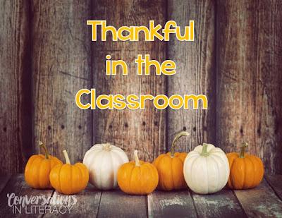 What I am Thankful for freebie