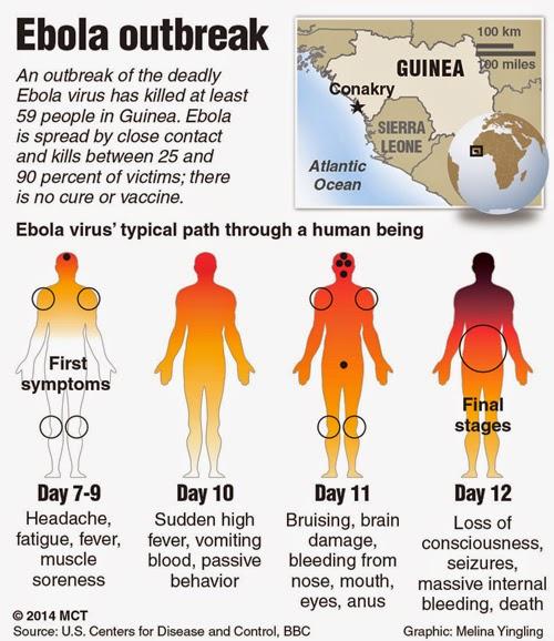 Ciri-ciri terjangkit Ebola