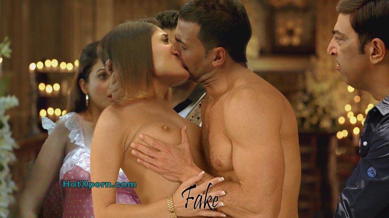 Nude Hot Indian Sey Actress Kareena Kapoor Boobs Pressed And Kissed