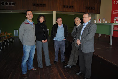 Ángel González, Gaspar Llamazares, Jesús Iglesias, Begoña González y Ovidio Zapico