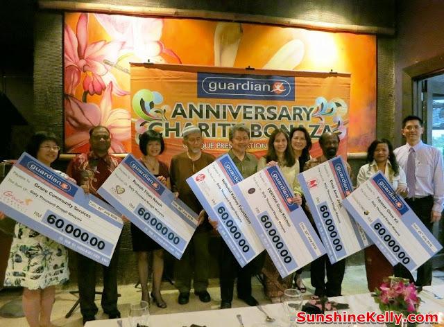 Guardian Charity Bonanza 2013, bijan Restaurant, guardian event, charity, cheque presentation