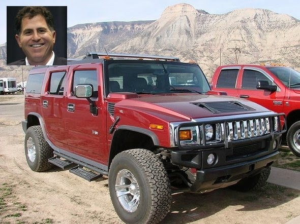 President of Dell, Michael Dell, a Hummer H2, which is no longer manufactured.