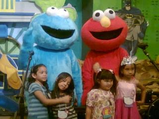 elmo and cookies monster