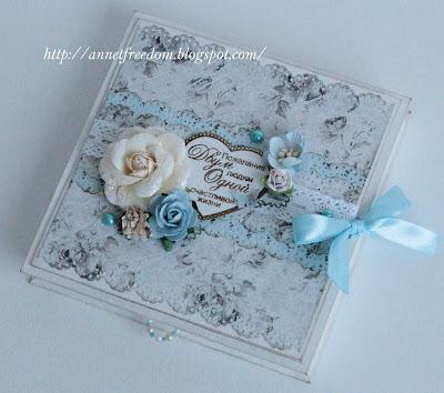 Набор для открытки скрапбукинг на свадьбу