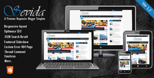 Share Sevida responsive magazine blogger template - mẫu đẳng cấp