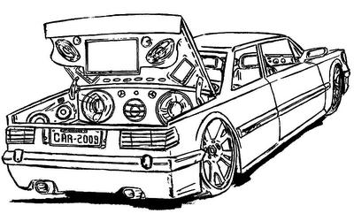 desenhos de carros tunados para colorir e pintar