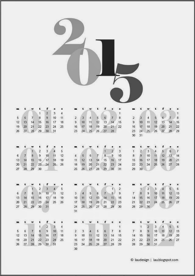 2015 lau calendar bw