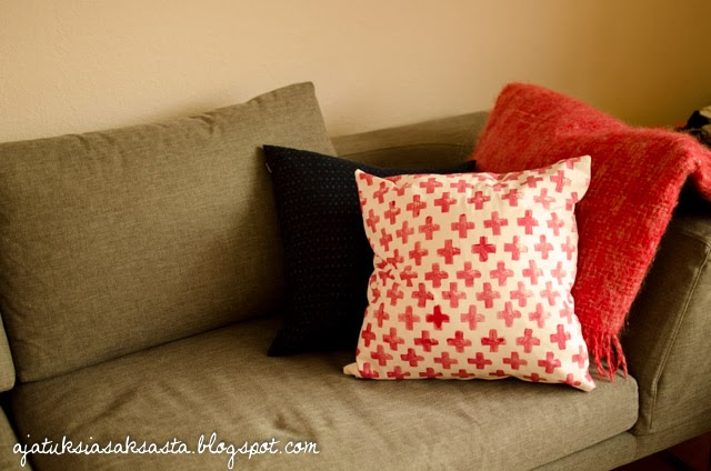 perunaleimasin kuvio tyynynpäällinen DIY