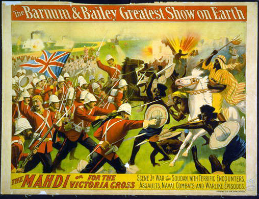 circus, classic posters, free download, graphic design, retro prints, vintage, vintage posters, The Barnum & Bailey Greatest Show on Earth, The Mahdi or for the Victoria Cross - Vintage Circus Poster