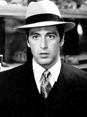 Al Pacino as Michael Corleon, gangster.