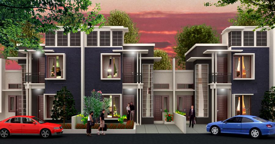 Model rumah modern minimalis lantai 2