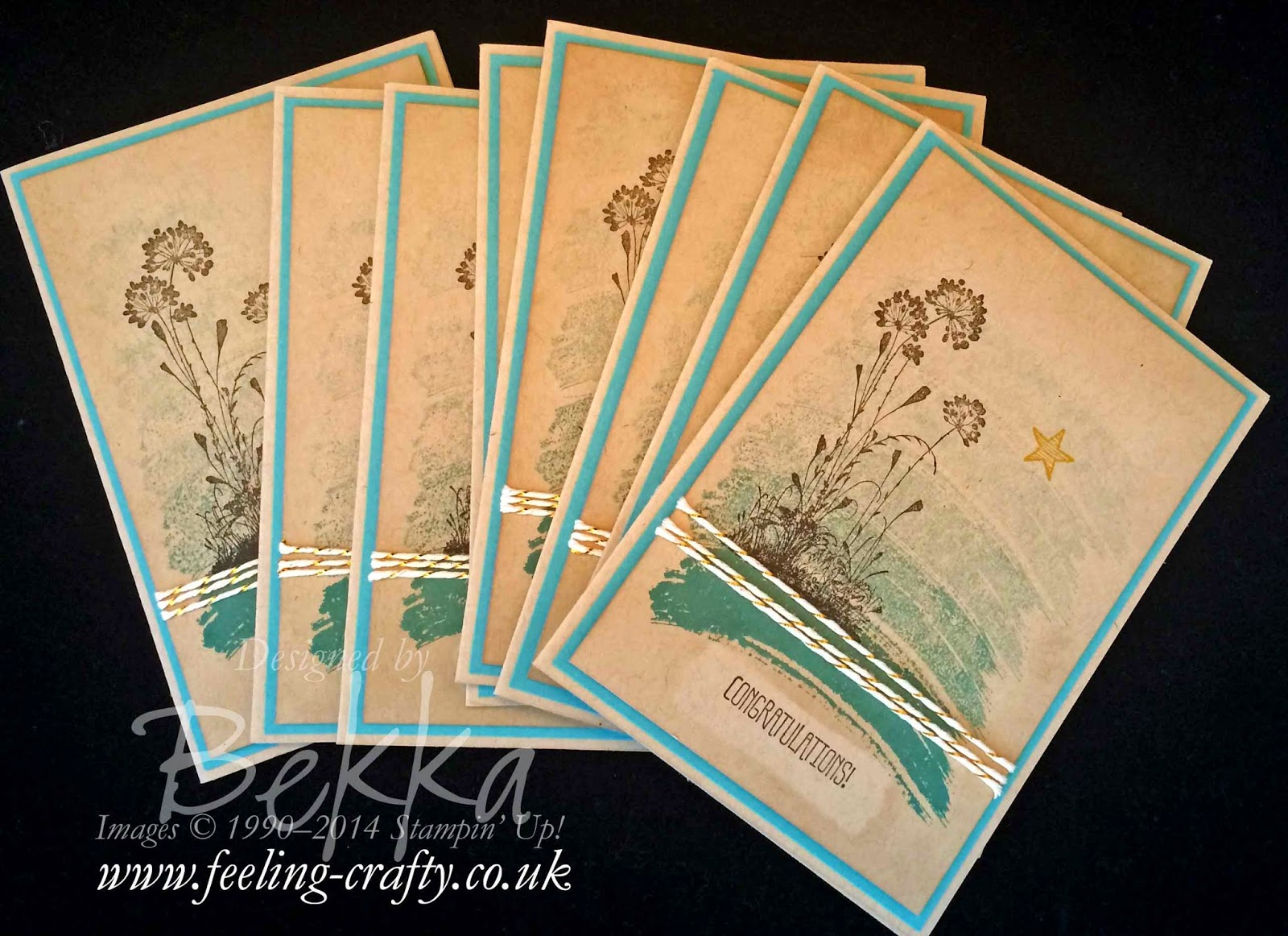 Serene Silhouettes meets Work of Art by Stampin' Up! UK Independent Demonstrator Bekka Prideaux