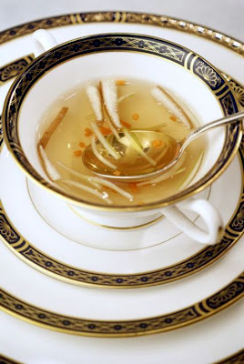 consomme with vegetables
