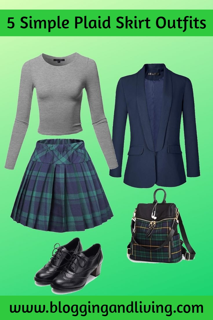 5 Simple Plaid Skirt Outfits You'll Love