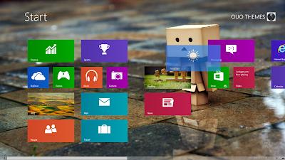 Danbo Doll Windows 8 Theme