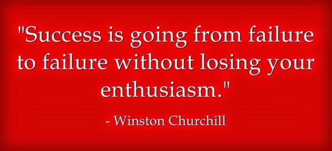 Thành công là thất bại mà không mất nhiệt tình