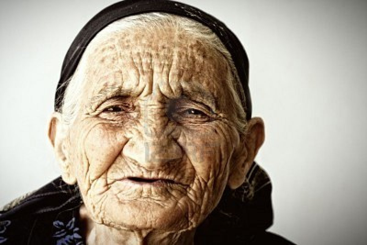 Old face smiling
