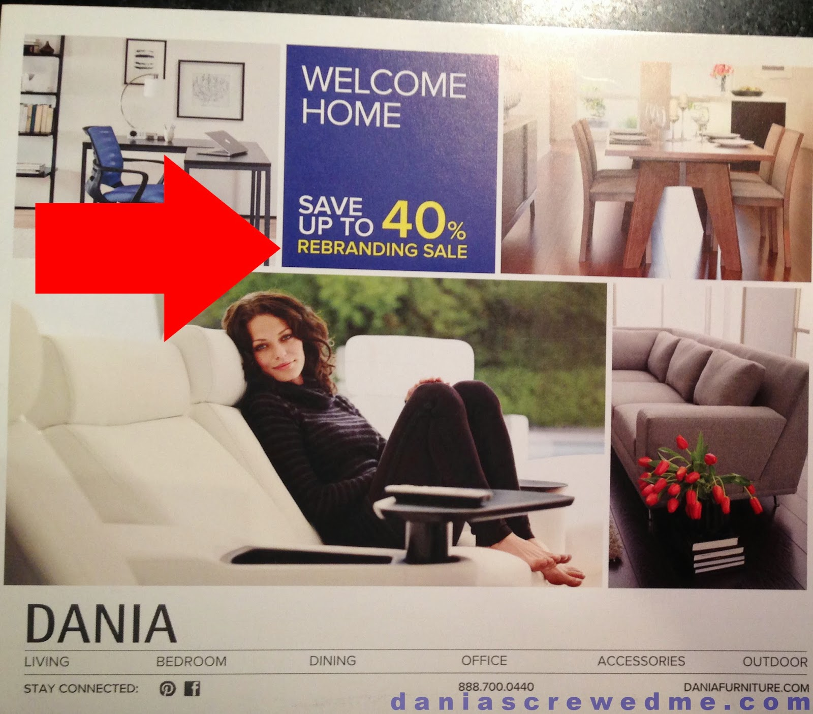 dania furniture plans to telegraph its rebranding sale, in addition to direct mail