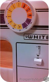 ProsperityStuff White Sewing Machine