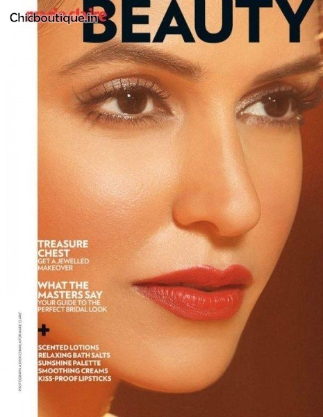 Neha Dhupia poses for Marie Claire India (October 2011).