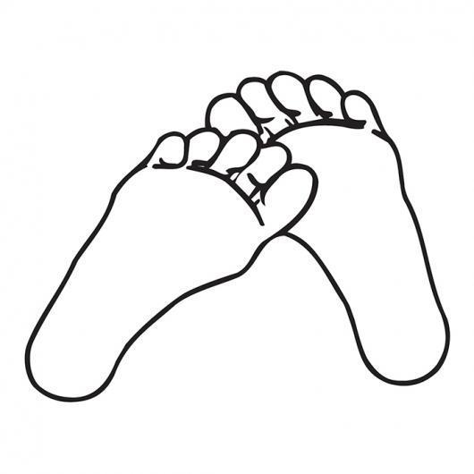 Huellas de pies para pintar - Imagui