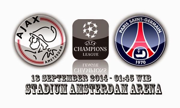 Berita Olahraga : Preview Matchday Pertama Grup F Champions League 2014/2015 Antara Ajax Amsterdam Dengan Paris SG