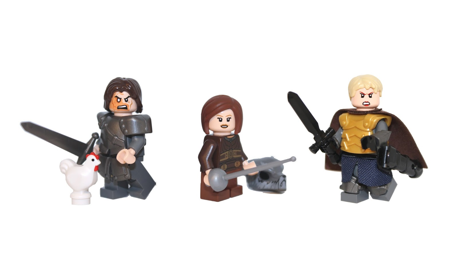 lego game of thrones, game of thrones lego, custom lego, custom lego mini figures, lego the hound, lego brine, lego arya stark, demonhunter bricks,