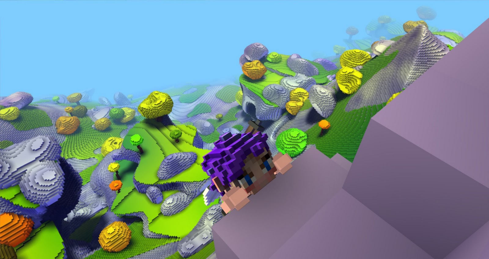 Climbing in Cubeworld