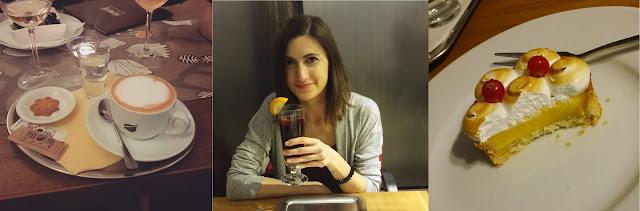 Cappuccino v Park Lane Cafe, punč a dezert v Café Momenta