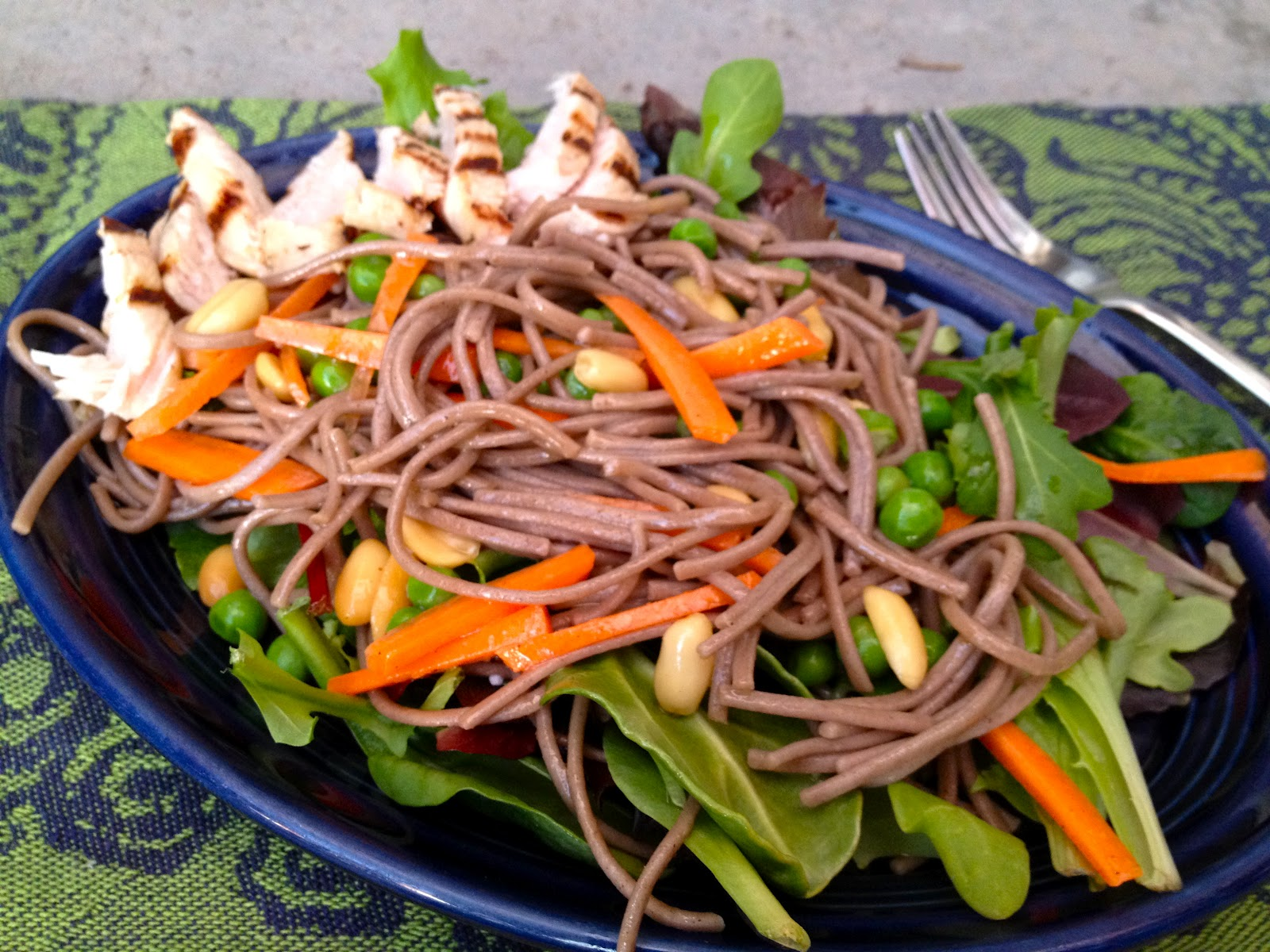 delectably gluten-free: Asian Noodle Salad with Grilled Chicken