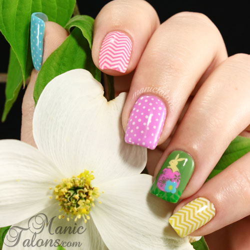 Easter Nail Art, Couture Gel Polish, Stamping Nail Art, Mundo de Unas