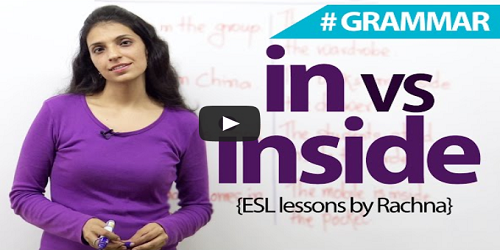 Difference Between in and inside in English Grammar