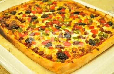 Oktay Usta Karışık Kare Pizza Tarifi Yeşil Elma