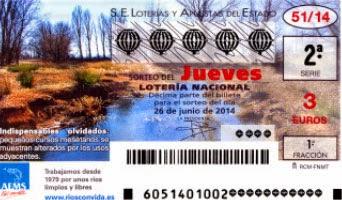 Sorteo de la Loteria Nacional del jueves 26 de junio de 2014