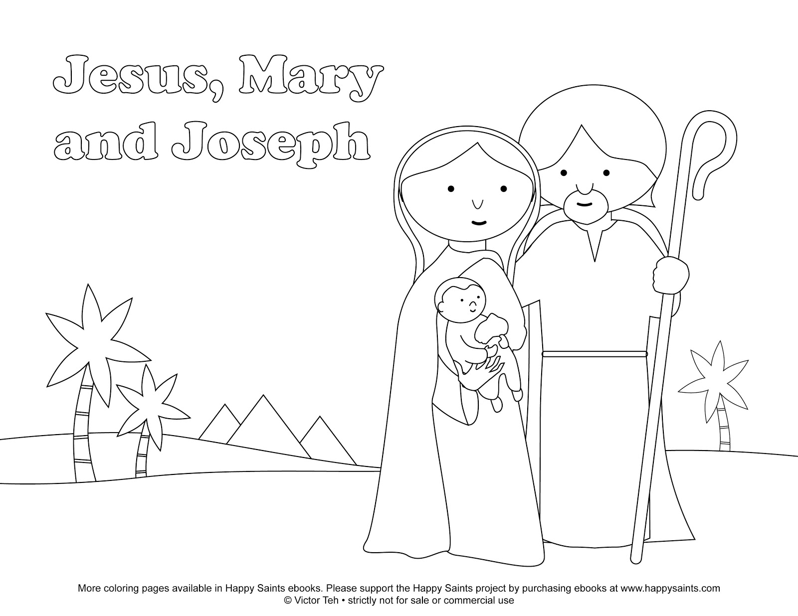 Free Coloring Pages Of Jesusmary And Joseph