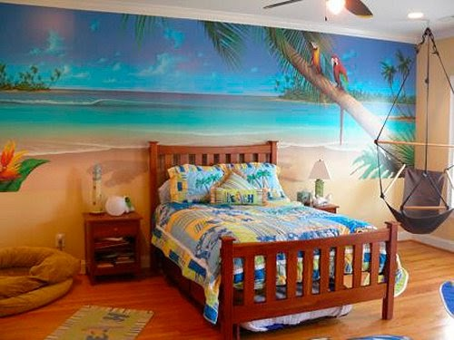 Exotic Tropical Style Themed Bedrooms Beach Retreat Theme Room