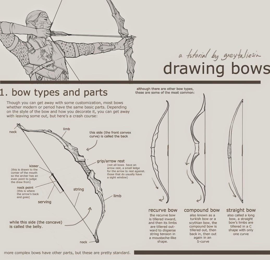 stock desenhos referencias tutorial referencia arco e flecha arcos