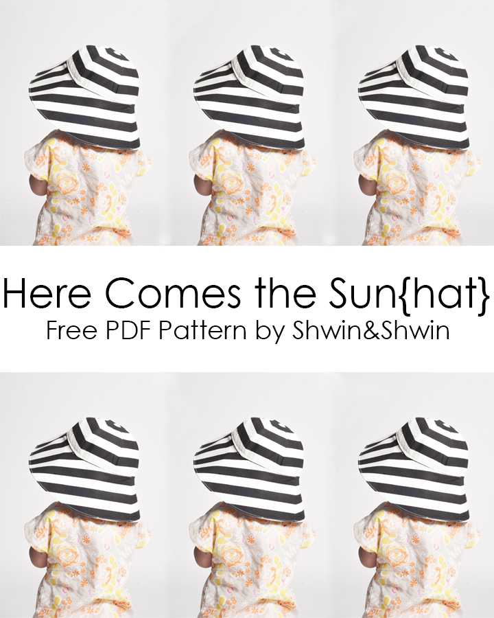 Quality Sewing Tutorials Baby Sun Hat Tutorial From Shwin Shwin