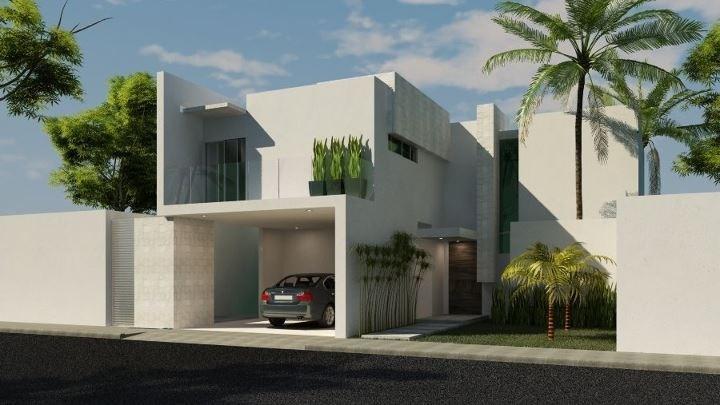 Fachadas de casas modernas elegante fachada de casa for Fachadas de casas minimalistas con balcon