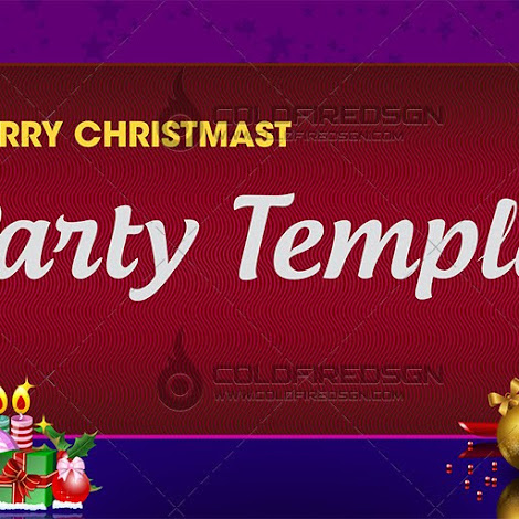Christmas Party Banner PSD Template