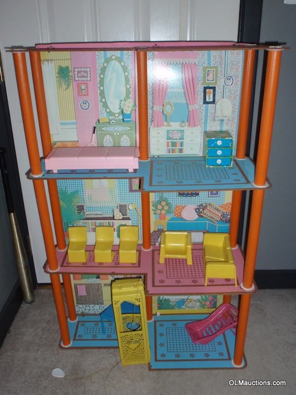 Internet superstores 1975 barbie 3 tier townhouse with Elevator townhomes